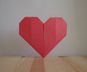 Origami. How to Make a Heart