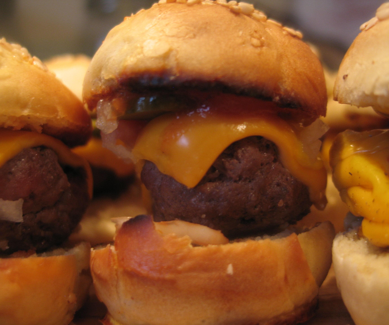 Cheese Burger Canapes