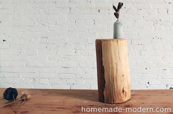 HomeMade Modern DIY Log End Table