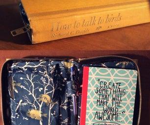 Book Clutch With Zipper