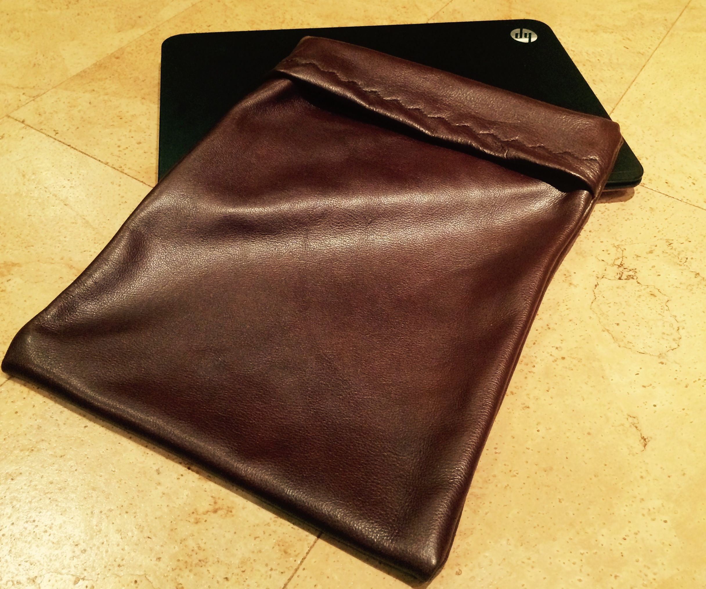 Leather Laptop Envelope