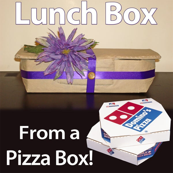 Lunch Box From a Pizza Box