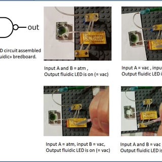 """Vacuum Powered Fluidic Ink """"LEDs"""" and Circuits"""