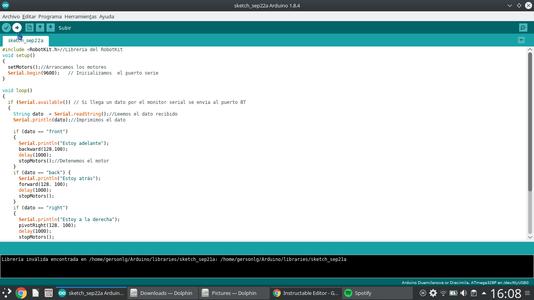 Programación De La Placa Del Arduino