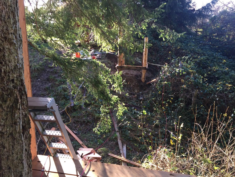 Suspension Bridge and Deck Railing