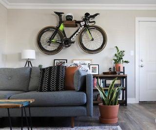 DIY Wall Hanging Bike Rack