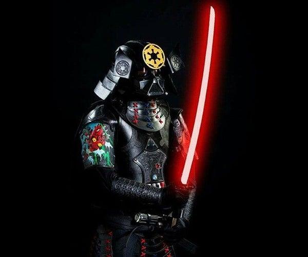 Leather Vader Samurai Costume