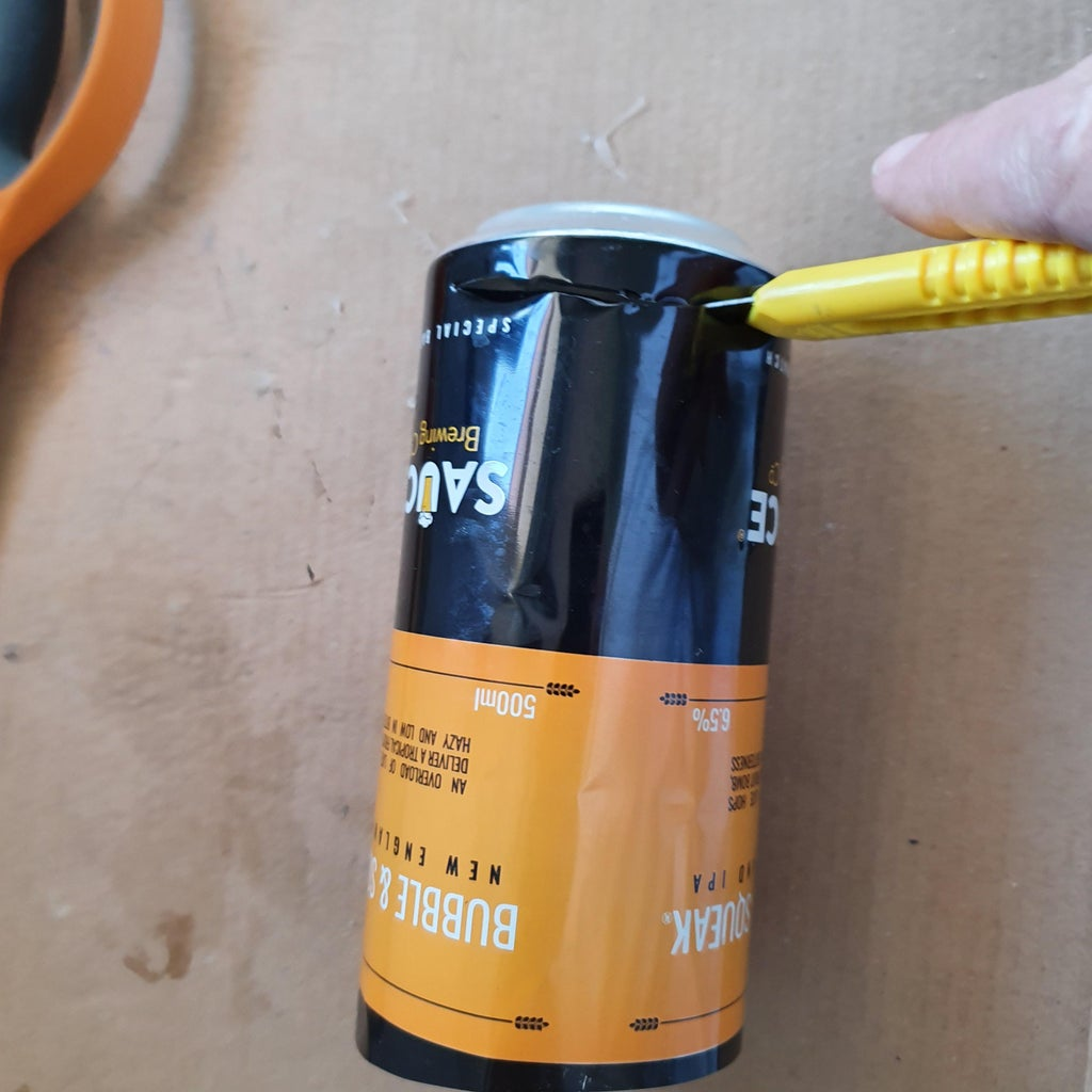 Create a Small Sheet of Aluminum From a Beverage Can