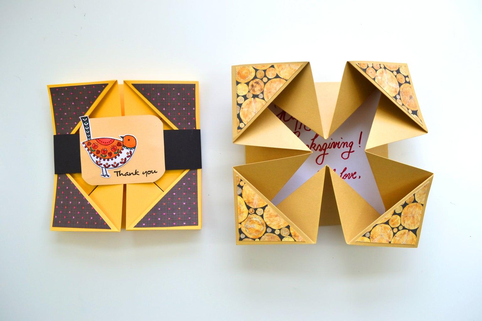 Thanksgiving DIY Crafts - Napkin Fold Card