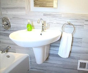 How to Install a Wall Mounted Pedestal Sink