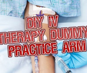 DIY IV Access Practice Arm With Flowing Blood