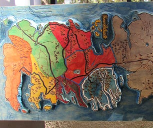 Game of Thrones Painted Table / 3D Map