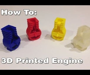 3D Printed Miniature Engine (Bottom End)