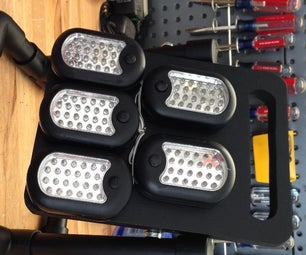 Make a 120 LED Work Light