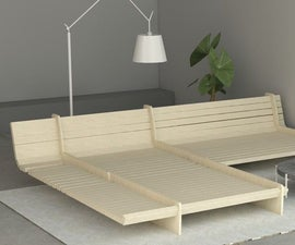 2X3 Plywood Sofa Bed Combo
