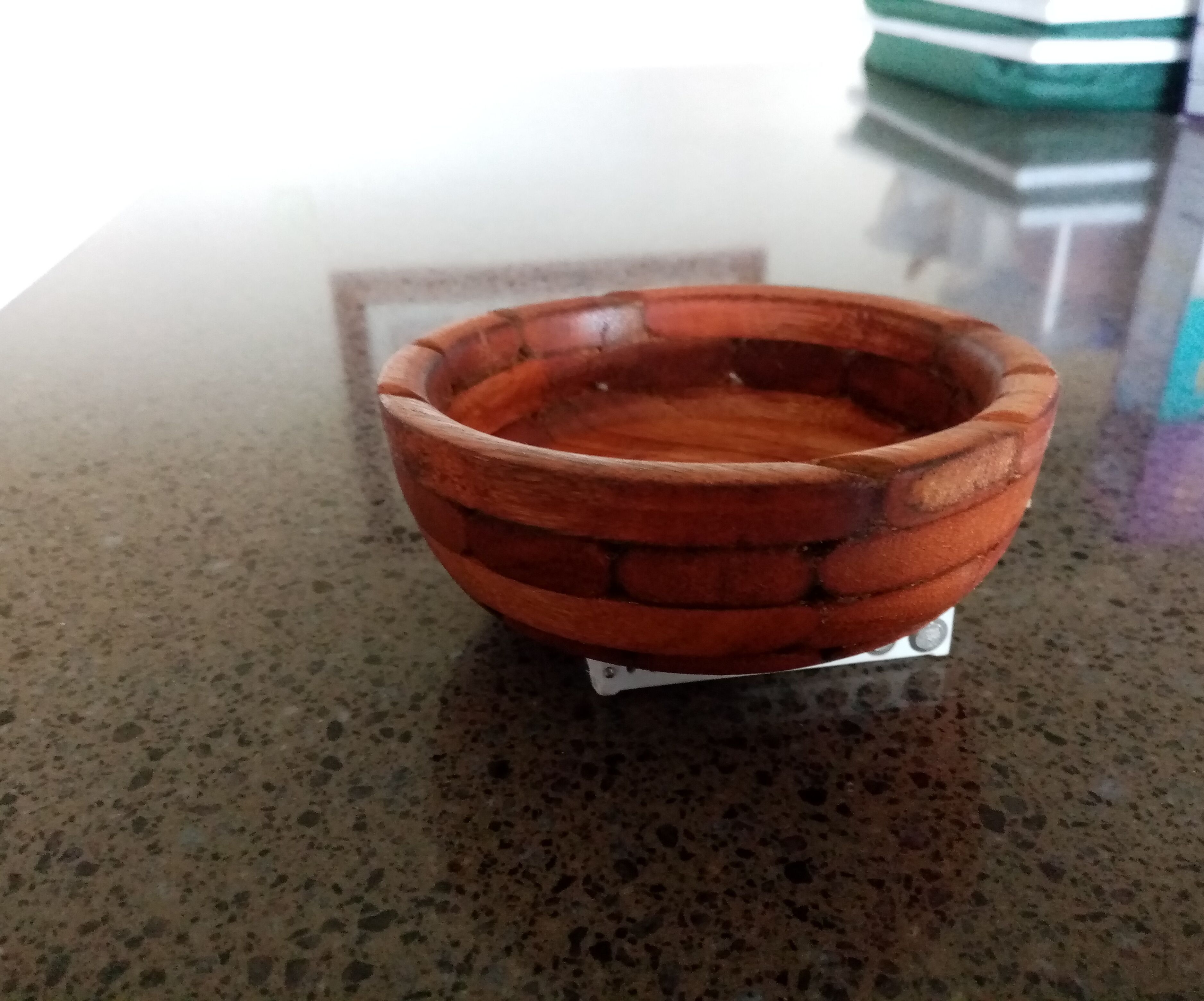 A Bowl From Recycled Chair Slats