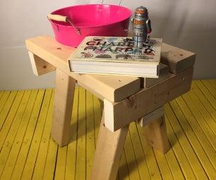 "2X4 Sawhorse Furniture (Stool / Side Table W18""xD12""xH16"")"
