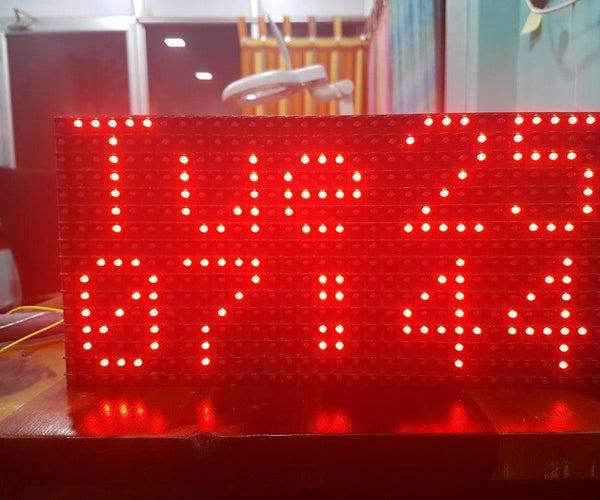 Dot Matrix Display(DMD) Clock