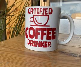 Coffee Mug Sticker | ملصق أكواب قهوة