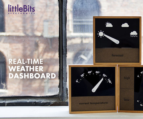 littleBits Real-Time Weather Dashboard