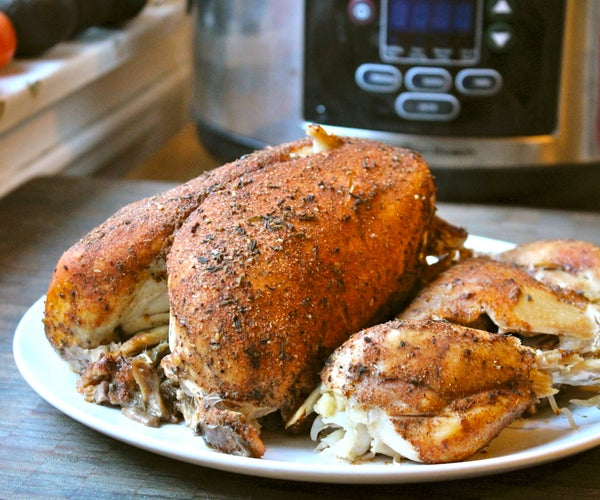 Bake a Whole Chicken in a Slow Cooker