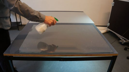 Building the Table - Rear Projection Film