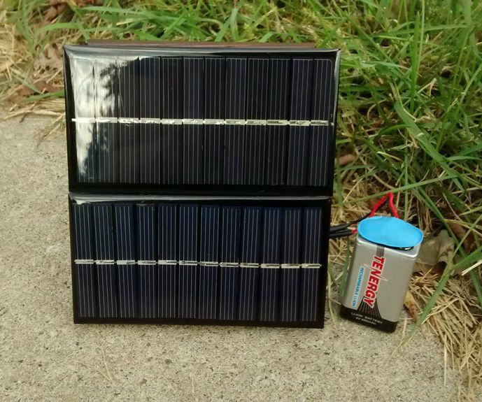 $3 Solar Powered 9 Volt Battery Charger – Perfect First Time Project!