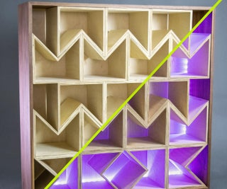 Modular Plywood Bookcase With Rotatable Boxes!
