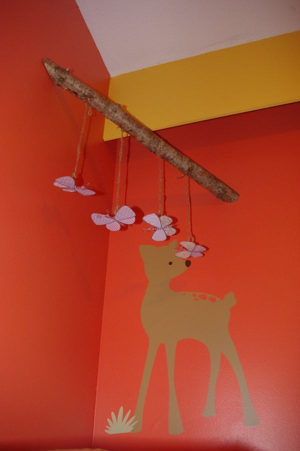 Change Table Mobile for Infant - DIY - Forest Theme