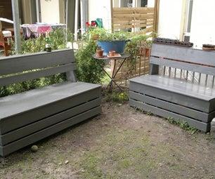 Excellent & Easy Garden Storage Bench