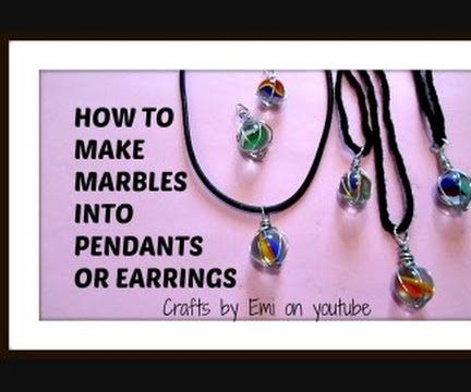 How to wire wrap marbles or no hole stones