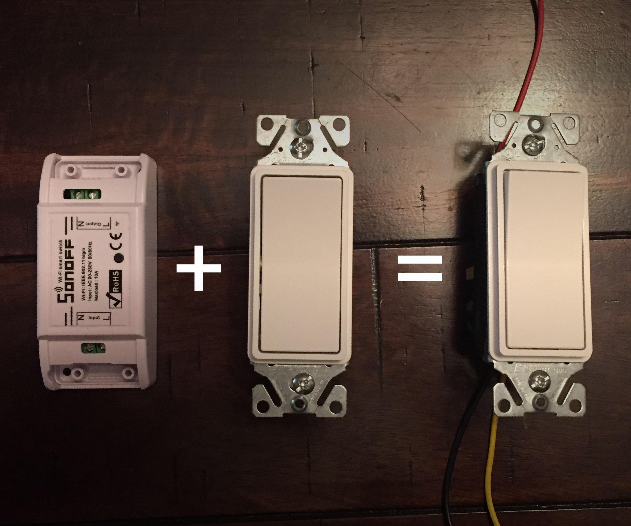 DIY Hybrid Sonoff Smart Switch for $10