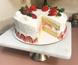草莓和奶油蛋糕
