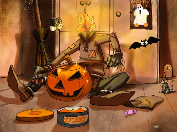 Mr Pumpkin Get Ready for Party