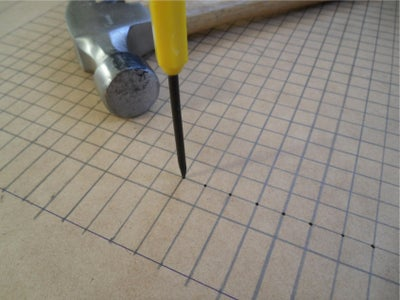Mark Out and Drill the LED Holes