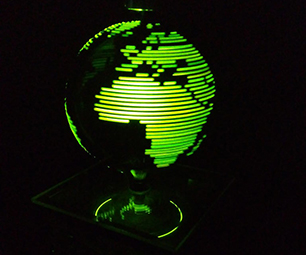 LED Persistance of Vision Globe