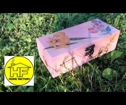HOW TO DECOUPAGE WOODEN BOX