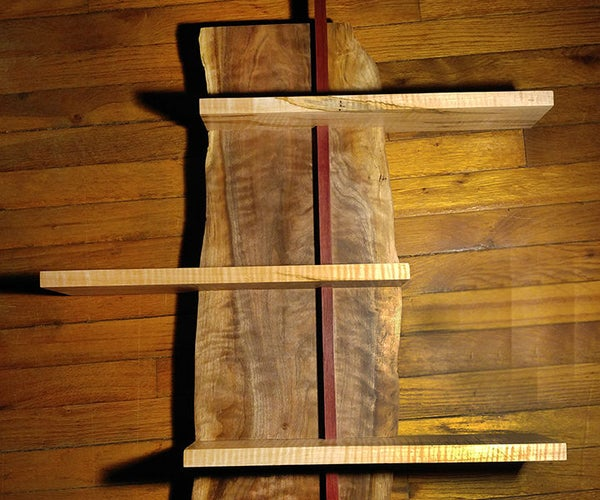Live Edge Figured Shelf, Using Only a Table Saw and Sander