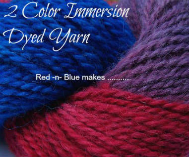 Multi Color Yarn Dyeing - Red & Blue makes .....