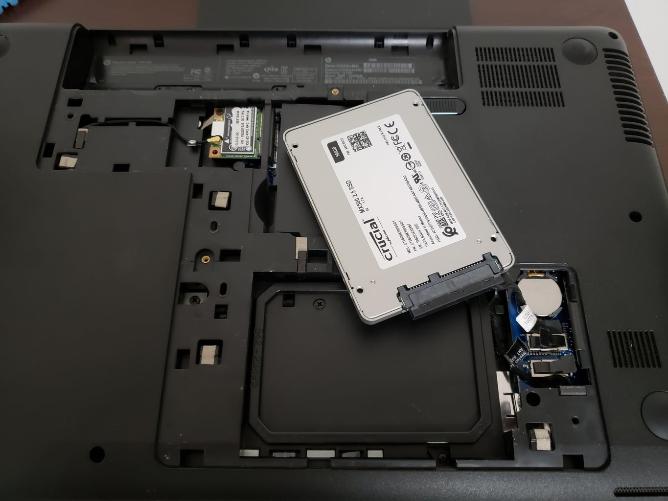 Change the HDD to the SSD