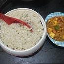 COCONUT MILK PULAO WITH PANEER CUBES