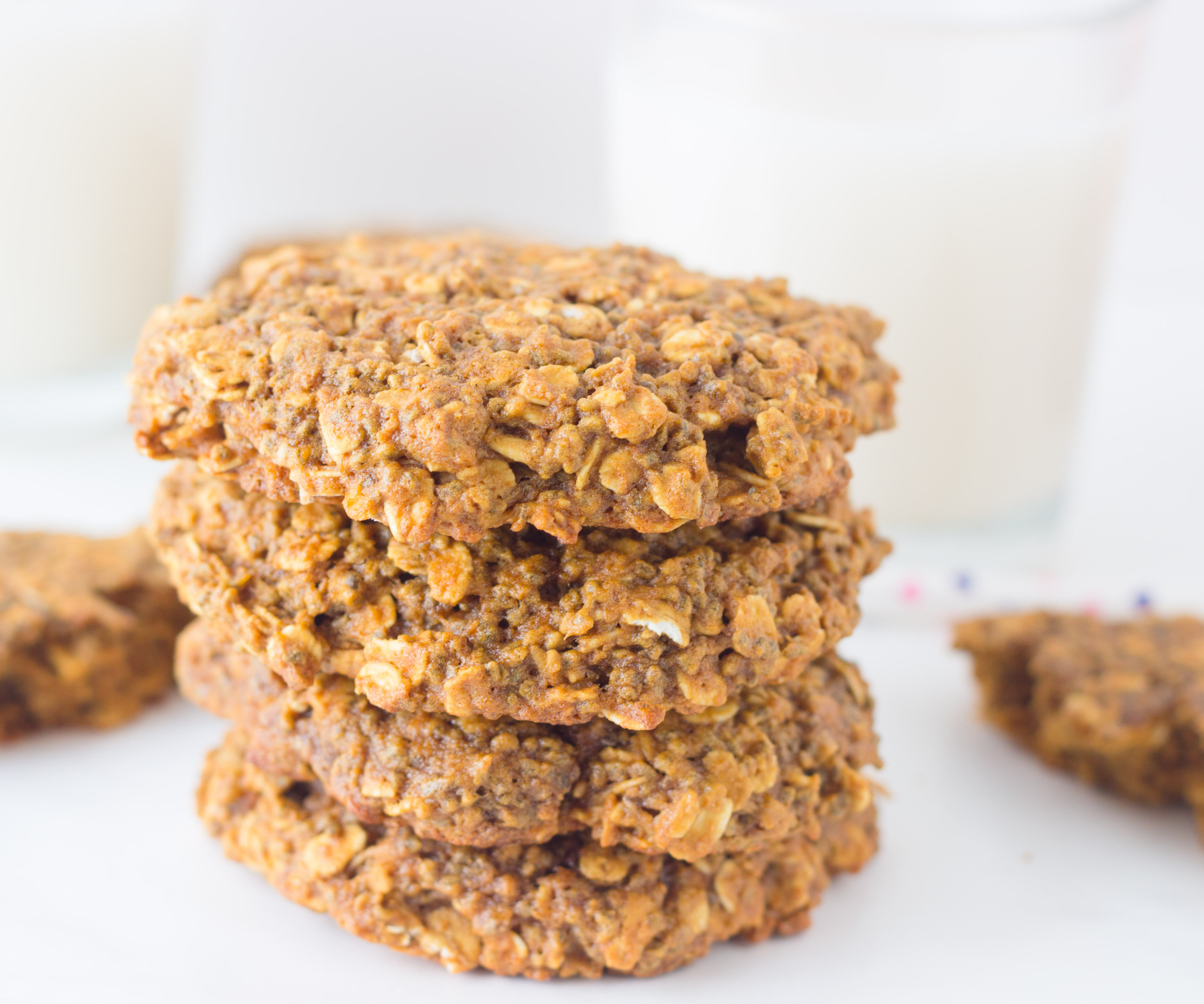 Oatmeal Chia Breakfast Cookies (Vegan and Low fat)