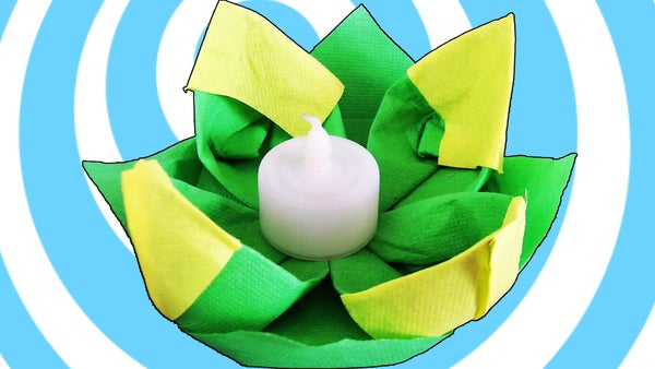 How to Make a Table Decoration Origami Water Lily From Napkins
