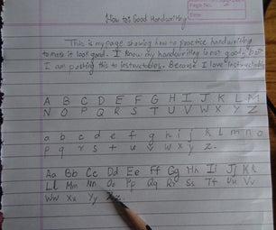 How To: Good Handwriting.
