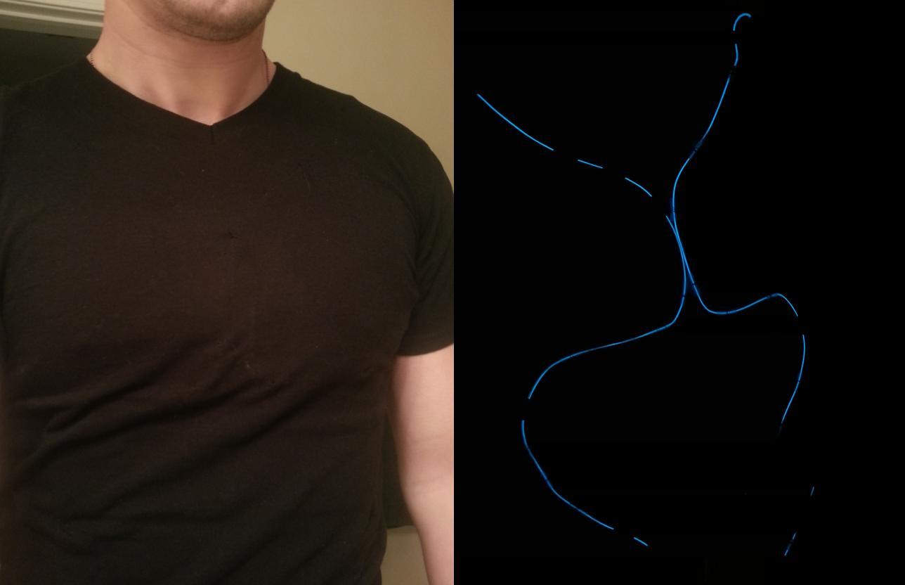 Hidden Tron shirt controlled with a SR Latch