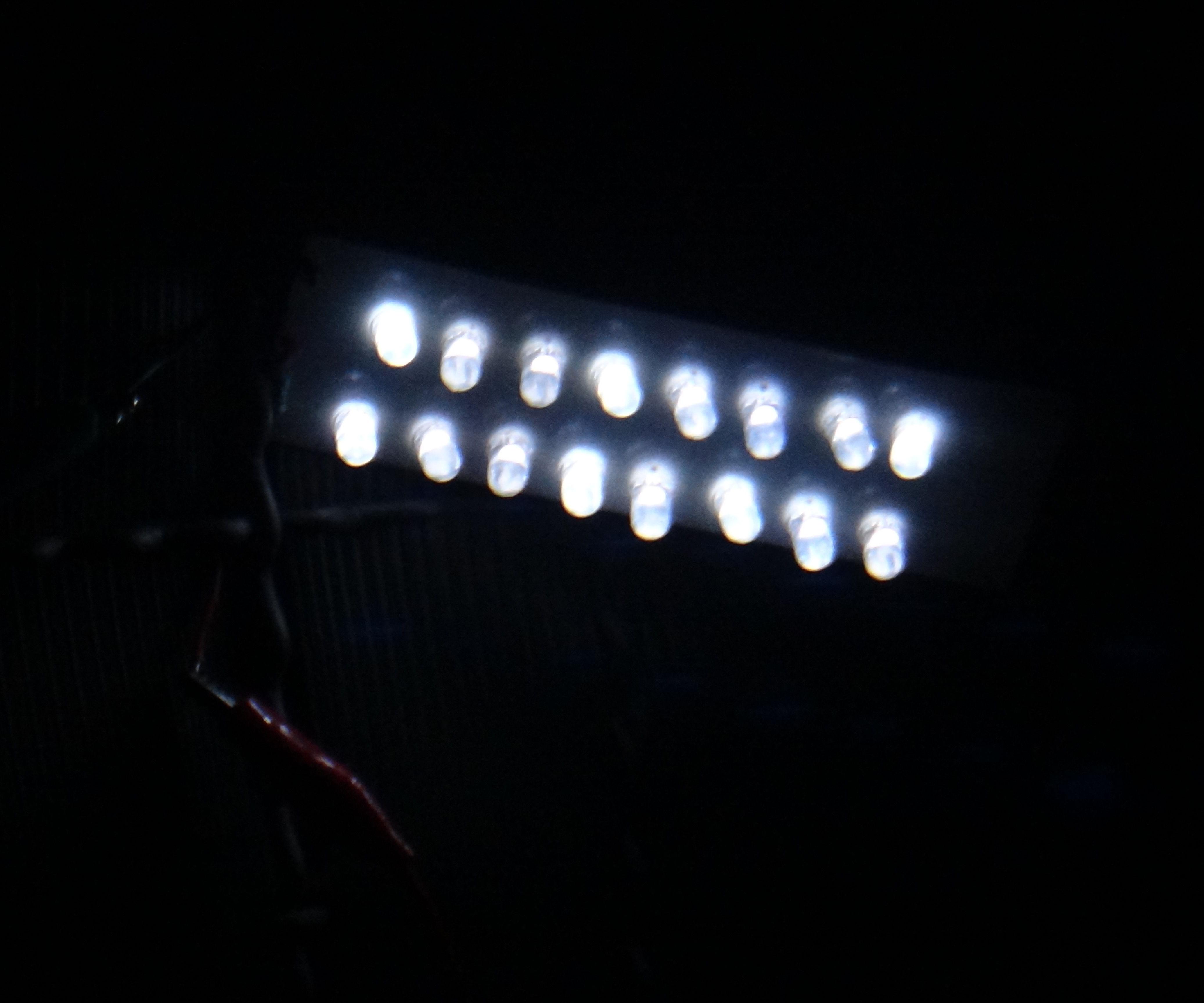 Homemade LED solar lamp