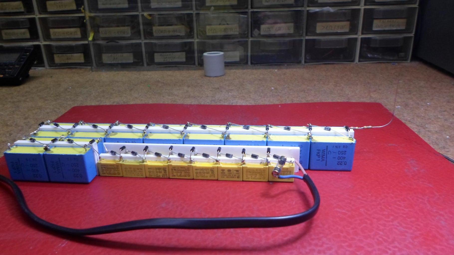 DIY AIR IONIZER With a Simple Voltage Muiltiplier (220V INPUT 7800V OUTPUT)