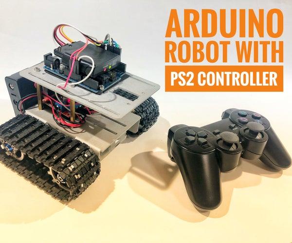 Arduino Robot With PS2 Controller (PlayStation 2 Joystick)