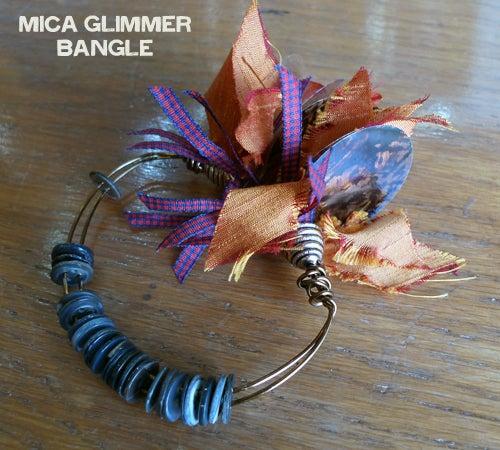 Mica Glimmer Bangle Bracelet
