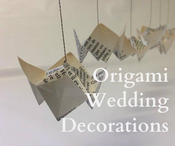 Origami Wedding Decorations